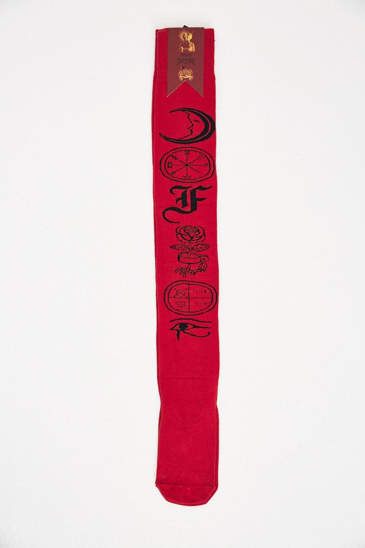 Dilara Findikoglu Red Symbols Socks new arrivals spring summer collection S/S 18 Machine A SHOWstudio sock symbol accessories womens