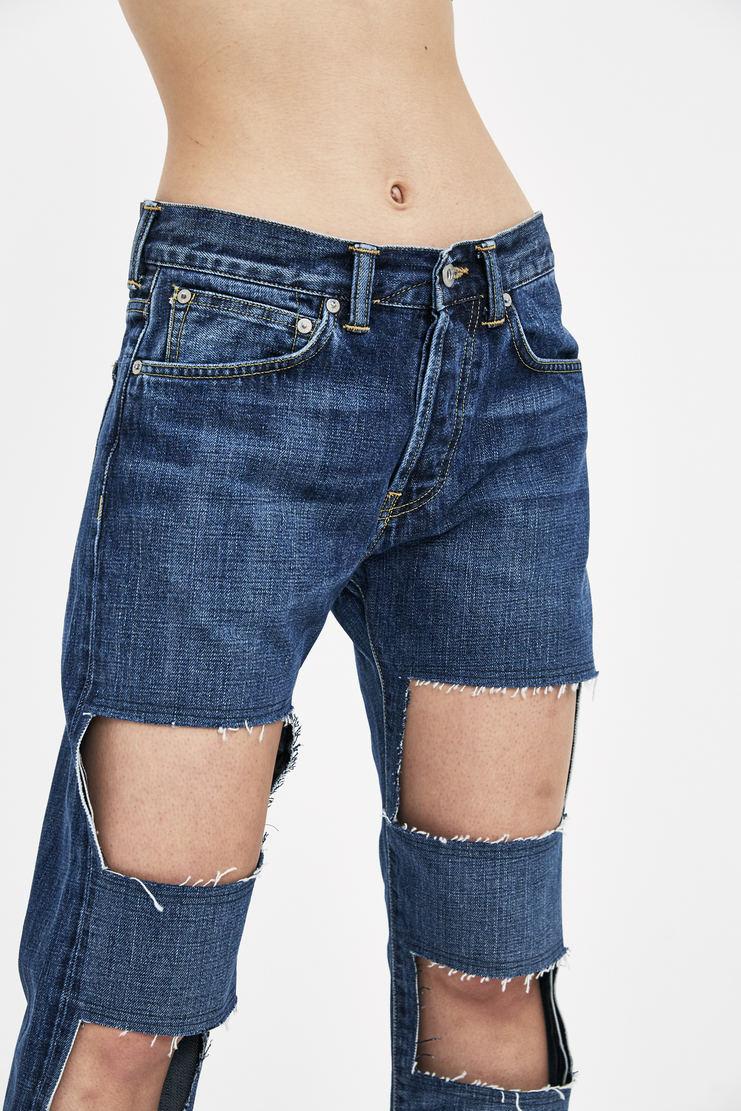 Lutz Huelle Dark Navy Cut Out Denim JS1000 new arrivals S/S 18 collection spring summer womens Machine A SHOWstudio jeans