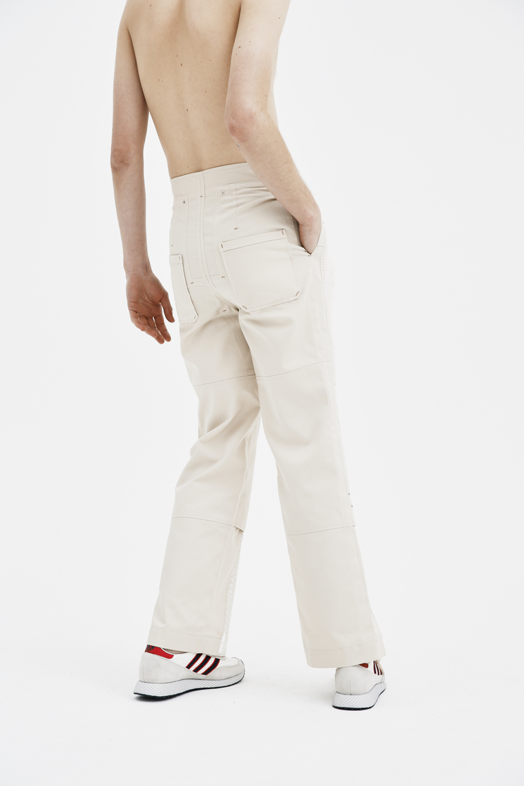 The Sirius pants trousers botoms cream beige lace white panel ss18 spring summer 2018 south korea korean Lace Cotton Trousers