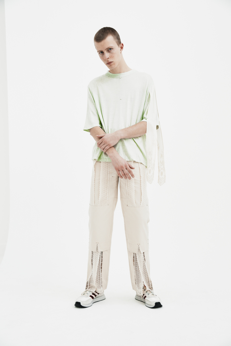 The Sirius Mint With Lace T-Shirt ss18 spring summer 2018 white green lace top tshirt tee korea korean