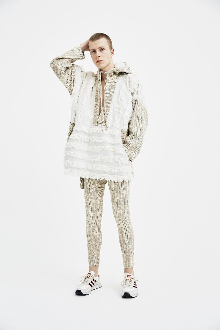 COTTWEILER Dryland Hooded Pullover Jacket fringe raw desert hoodie hood jumper shirt woven spring summer ss18 s/s 18 lfw machine a CWOW 45