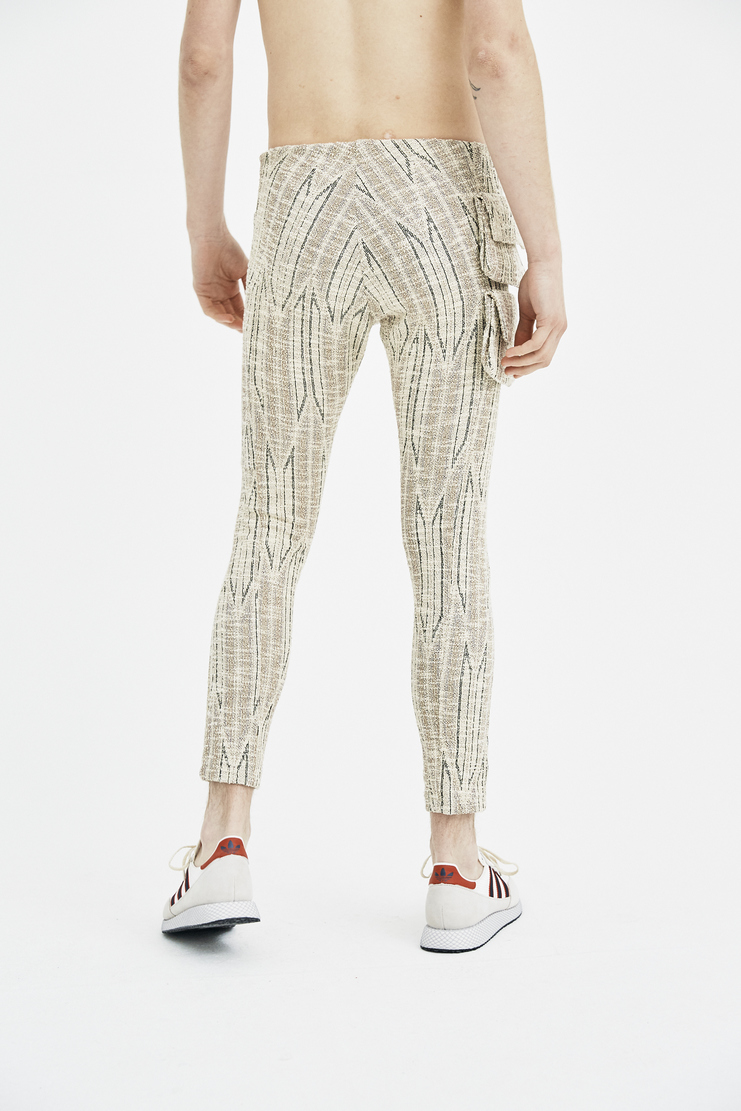 CWTR 82 COTTWEILER Dryland Legging Trousers woven knitted raw edge natural ivory sand desert spring summer ss18 machine a s/s 18