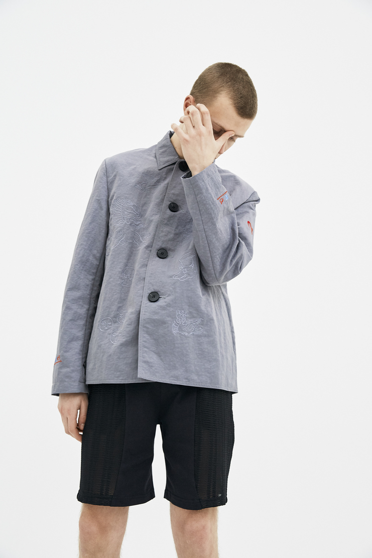 Xander Zhou Taupe Work Jacket S/S 18 spring summer collection SS18J14-2 mens jackets Machine A SHOWstudio