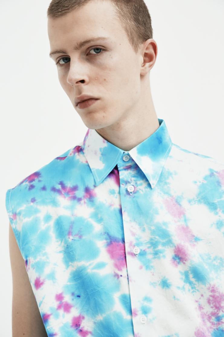 Xander Zhou Tied Dye Sleeveless Shirt new arrivals s/s 18 spring summer 2018 showstudio machine a