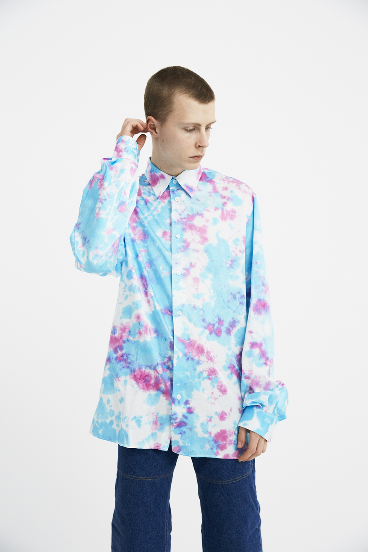 Xander Zhou Long sleeve Tie dye shirt new arrivals s/s 18 spring summer 2018 machine a showstudio