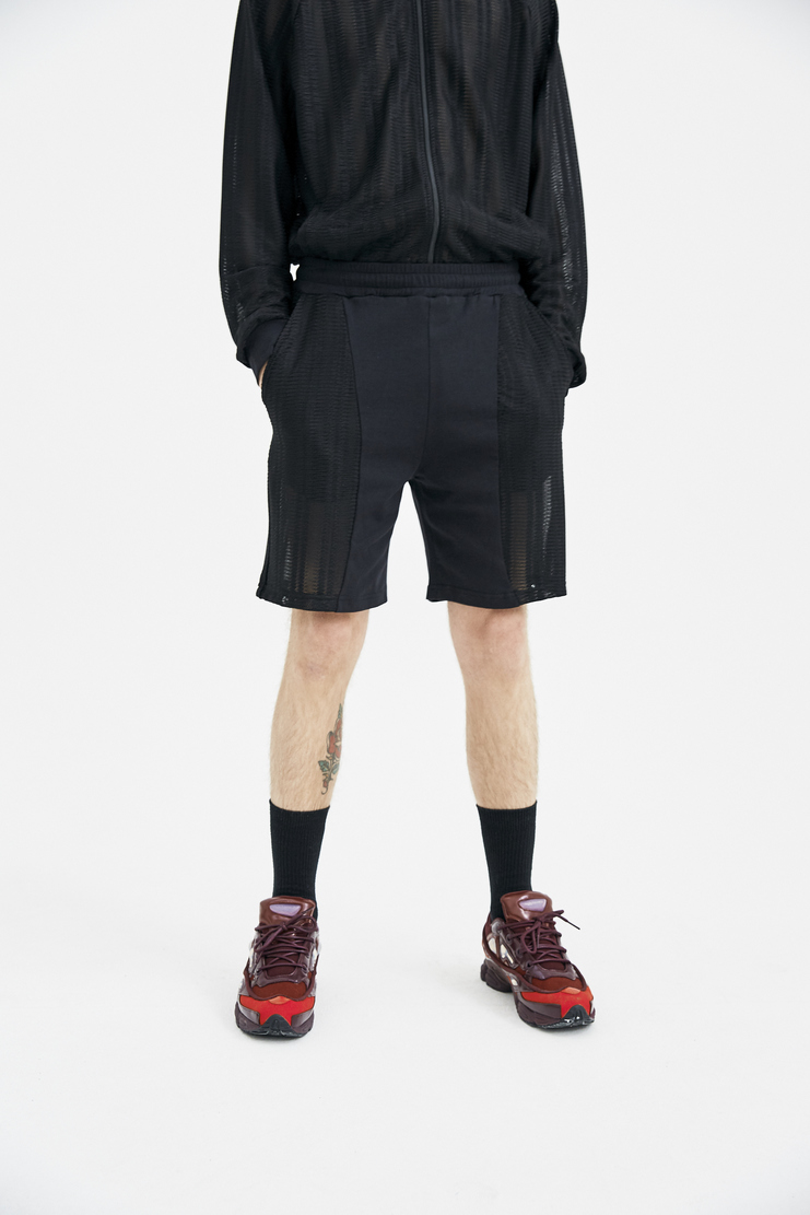 COTTWEILER R.V Shorts mesh knit joggers elastic spring summer ss18 s/s18 machine a CWST 27 knitted basketball black