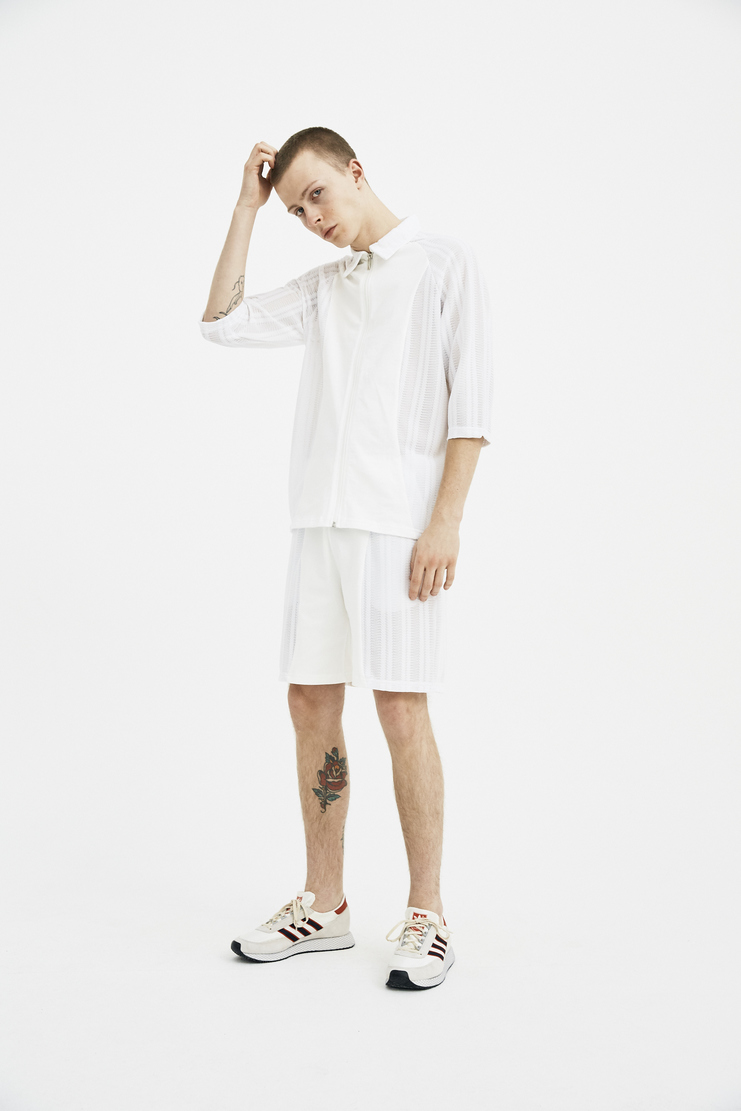 COTTWEILER R.V Shorts mesh knit joggers elastic spring summer ss18 s/s18 machine a CWST 27 knitted basketball ivory white