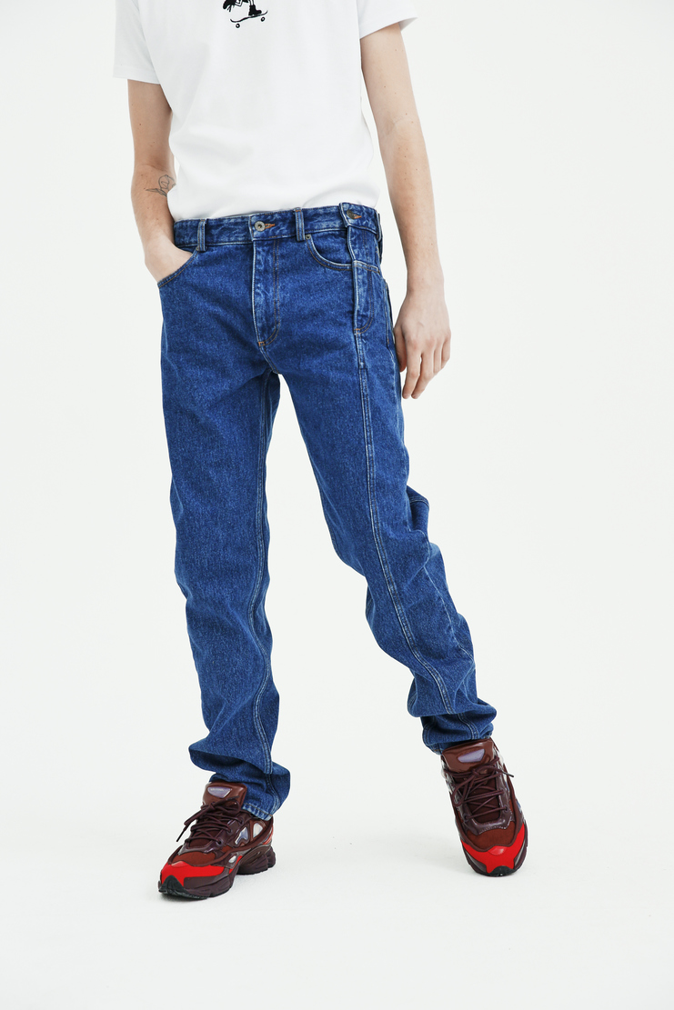 Y/Project side fly jeans button zip seam denim straight leg glen martens y project spring summer pre collection ss18 s/s 18 machine a