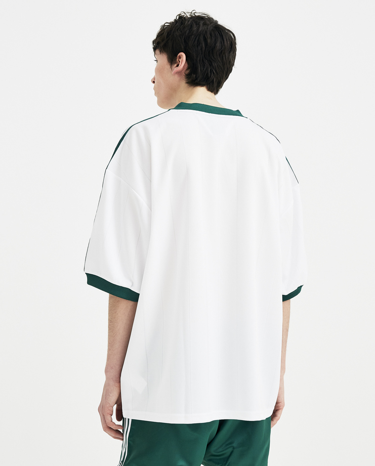 Adidas x Gosha Rubchinskiy White Jersey T-shirt S/S 18 collection spring summer collaboration Machine A SHOWstudio mens G012T102 top