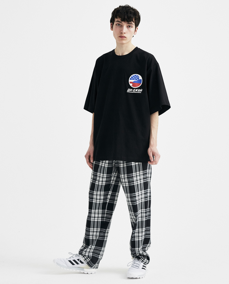 Gosha Rubchinskiy Black DJ Oversized T-shirt S/S 18 collection spring summer Machine A SHOWstudio mens G012T006 tops