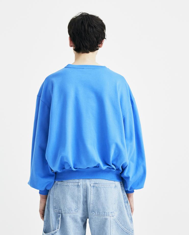 Gosha Rubchinskiy Blue DJ Sweatshirt S/S 18 spring summer collection Machine A SHOWstudio G012T015 mens top hoodie jumper