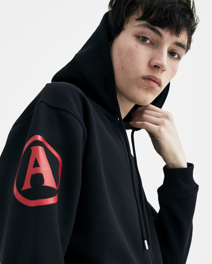 ALYX Black One Race Zip Up Hoodie AVUSW0002 S/S 18 spring summer collection mens jumpers hoodies Machine A SHOWstudio