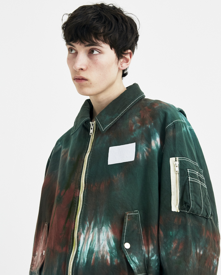 Gosha Rubchinskiy Tie Dye Bomber Jacket new arrivals machine a showstudio G012J005 spring summer 2018 s/s 18 zip pockets ss18
