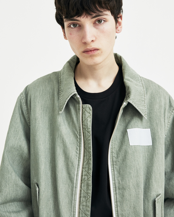 Gosha Rubchinskiy khaki green Bomber Jacket new arrivals machine a showstudio G012J005 spring summer 2018 s/s 18 zip pockets ss18