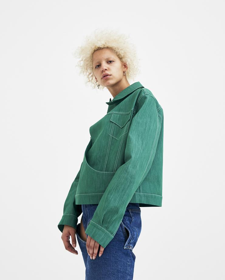 Marta Jakubowski Mika Denim Jacket green new in new arrivals machine a showstudio spring summer 2018 s/s 18 green