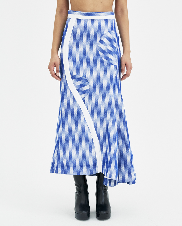 RMSSS18-WDS.06 Richard Malone Blue Optic Circle Skirt machine a showstudio new  arrivals spring summer 2018 s/s 18