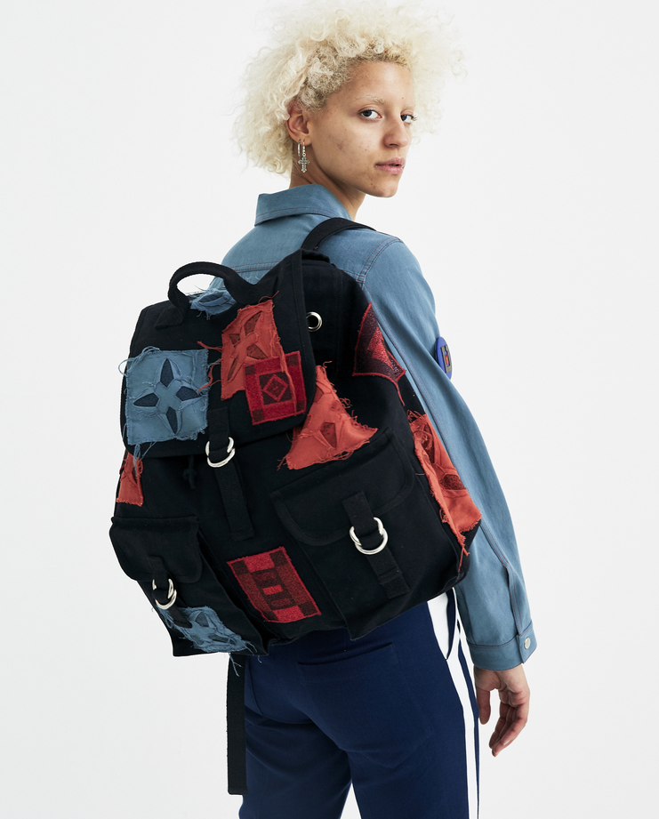 Sadie Williams Multi Patched Rucksack SS18BAG02 womens backpack accessories S/S 18 spring summer collection Machine A SHOWstudio