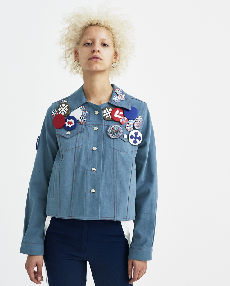 Sadie Williams A-Line Denim Jacket ss18 spring summer 2018 pins sady wiliams william SS18JKT02B