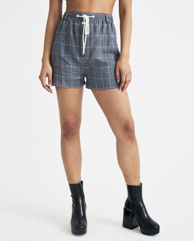 SIRLOIN Grey Drunks Shorts K067 womens new arrivals S/S 18 spring summer collection Machine A SHOWstudio short trousers pants