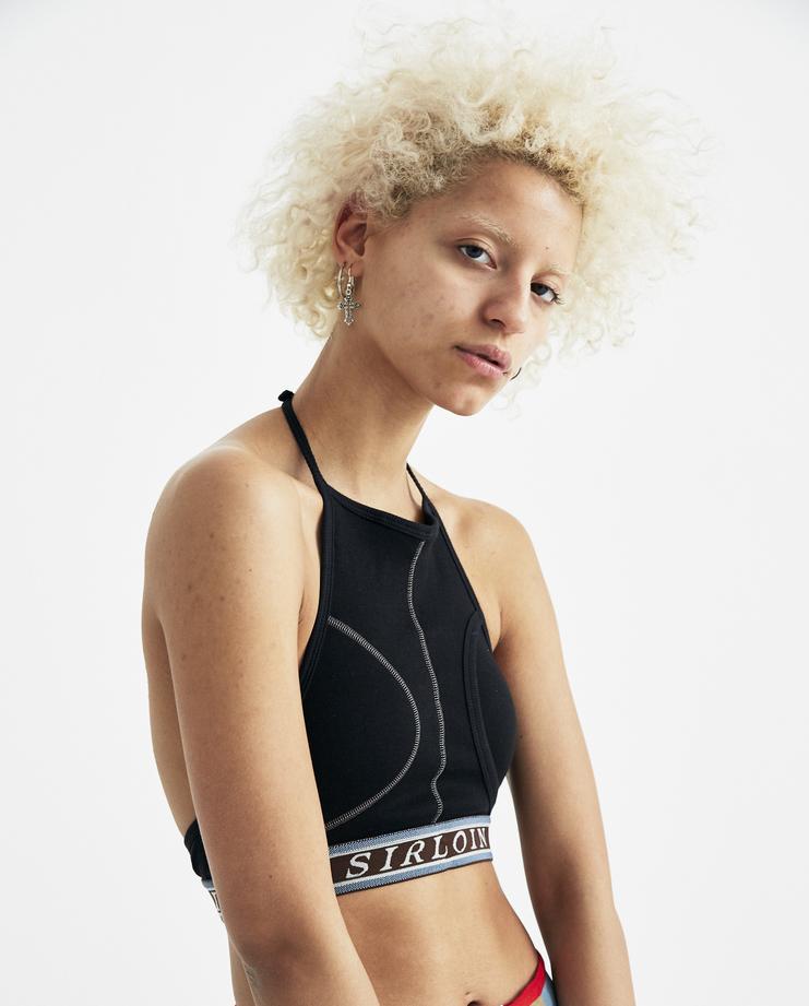 SIRLOIN Black Brief-Bra D007 womens new arrivals S/S 18 spring summer collection underwear sirlion Machine A SHOWstudio lingerie bras