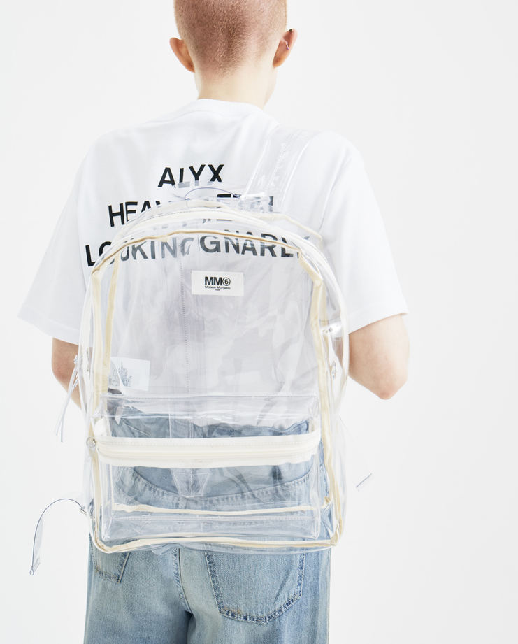 MM6 Transparent PVC Backpack S41WA0013 new arrivals rucksack bag S/S 18 spring summer collection Machine A SHOWstudio