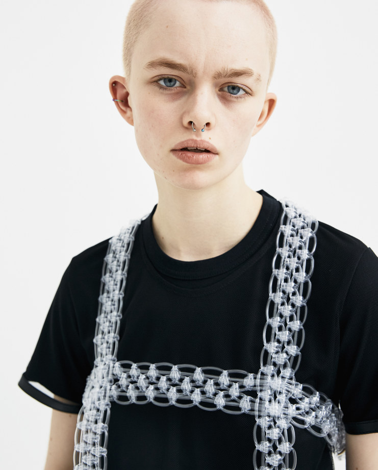 Noir Kei Ninomiya Clear Harness Vest new arrivals 3A-V003-S18 S/S 18 spring summer collection Machine A SHOWstudio transparent harness