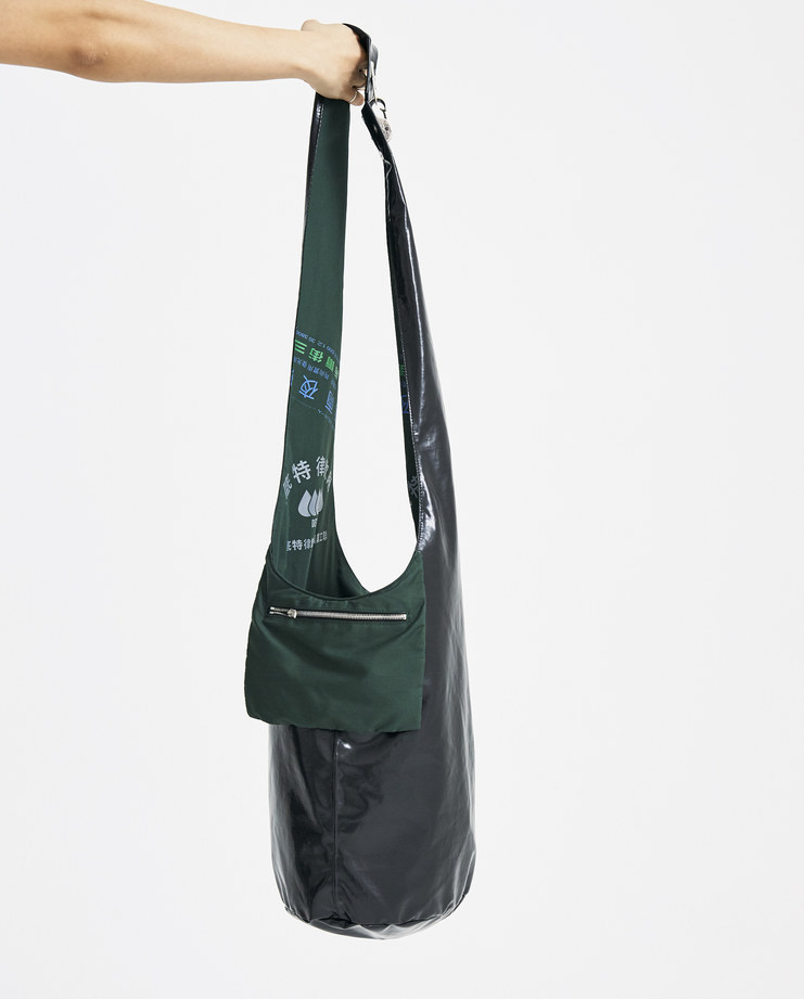 Raf Simons Dark Green Twisted Bag 181-930-15010-00026 accessories new arrivals S/S 18 spring summer collection Machine A SHOWstudio bags