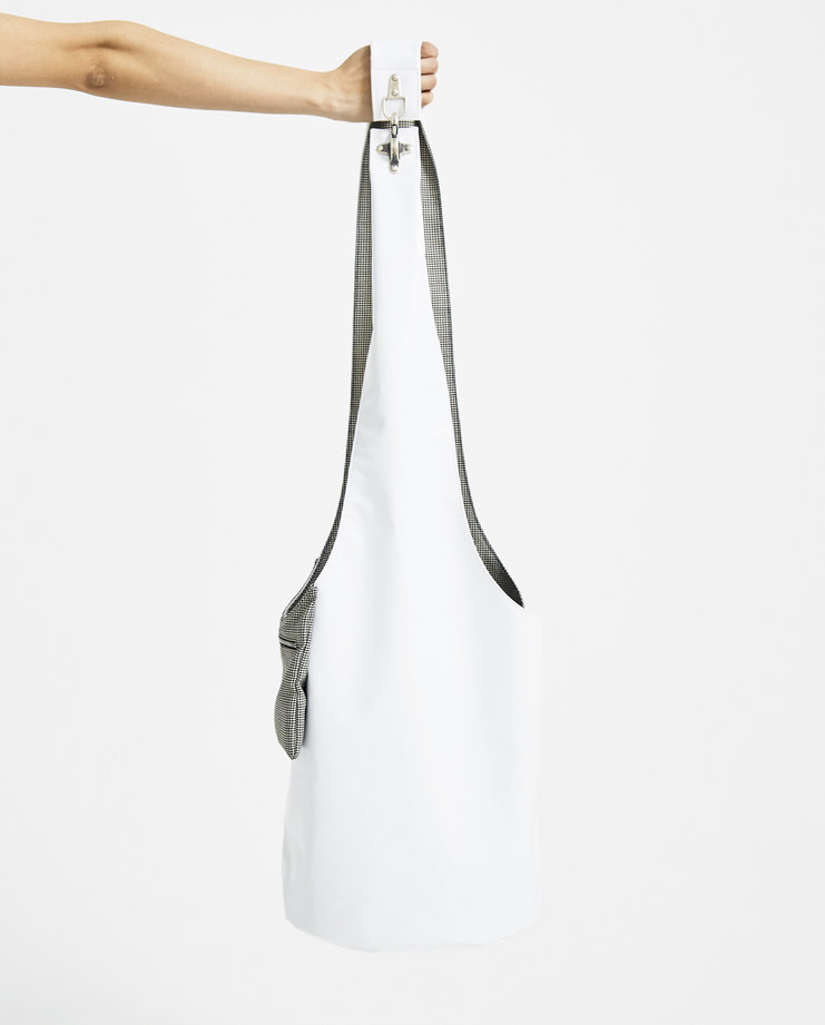 Raf Simons White Twisted Bag 181-930-20015-09960 accessories new arrivals S/S 18 spring summer collection Machine A SHOWstudio bags