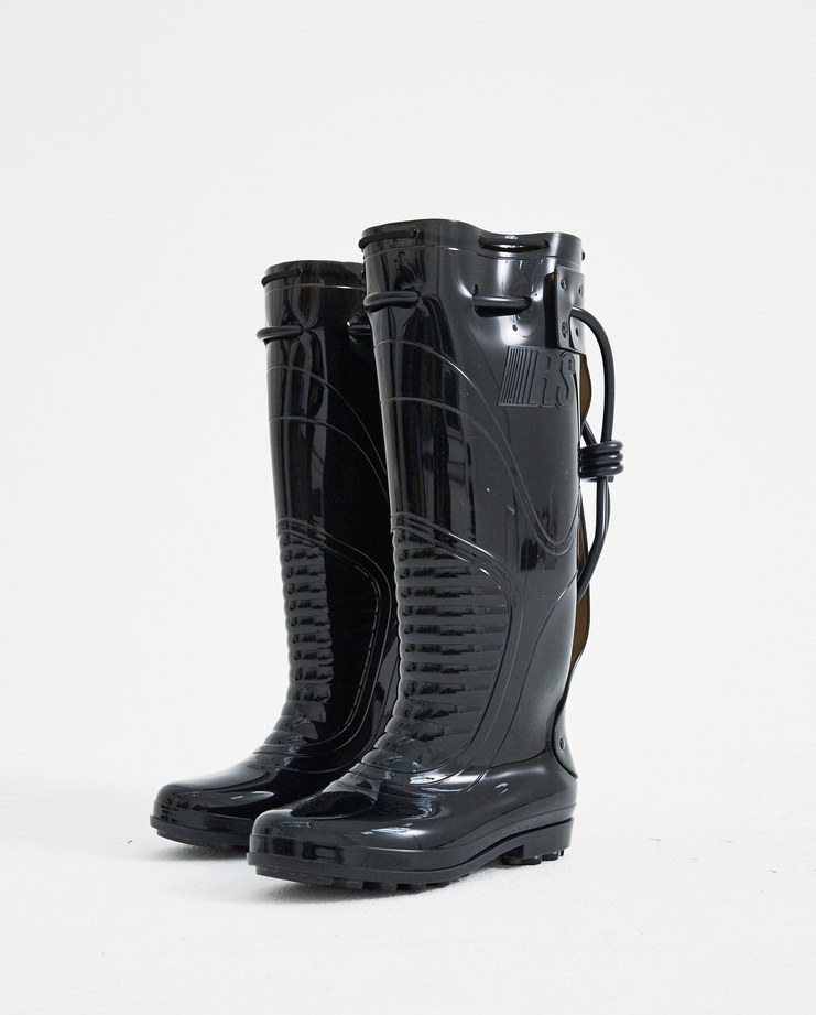 Raf Simons Black PVC Boots 181-936-40055-00099 new arrivals womens S/S 18 spring summer collection Machine A SHOWstudio boot shoes
