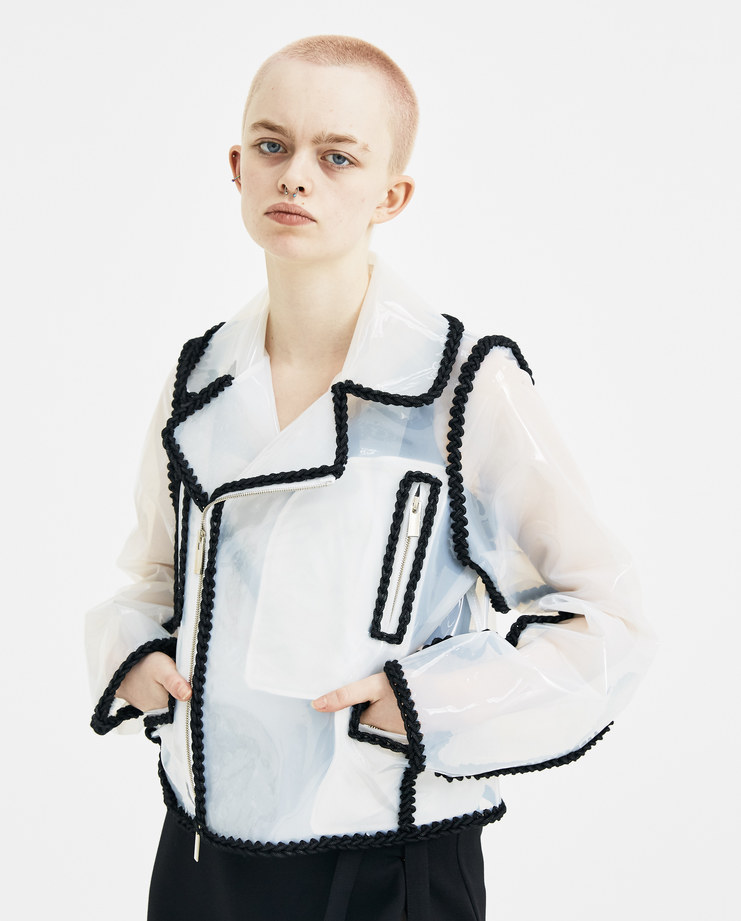 Noir Kei Ninomiya Clear PVC Jacket 3A-J008-S18 new arrivals S/S 18 spring summer collection Machine A SHOWstudio transparent jackets womens