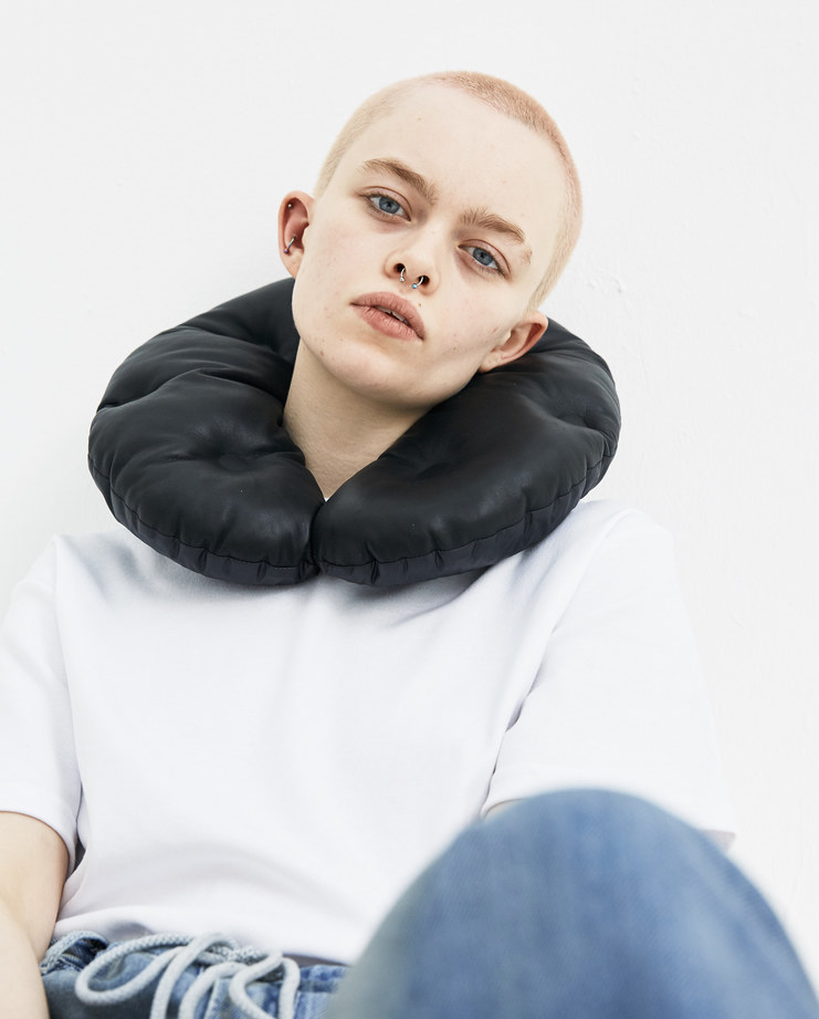 Maison Margiela Black Leather Cushion new arrivals S/S 18 spring summer collection S61VT0018 travel accessories pillow Machine A SHOWstudio