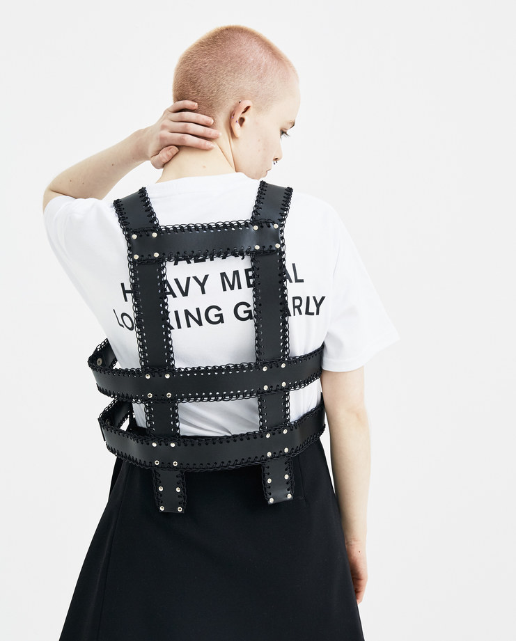 Noir Kei Ninomiya Black Harness Vest new arrivals 3A-V006-S18 S/S 18 spring summer collection Machine A SHOWstudio