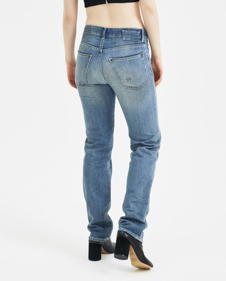 MM6 Dirt Effect Denim Trousers S32LA0145 womens new arrivals S/S 18 spring summer collection Machine A SHOWstudio trouser wide leg pants