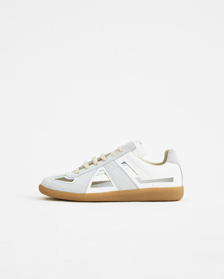 Maison Margiela Off-White Cut-Out Sneakers mens shoes trainers SS18 spring summer Machine A Machine-A SHOWstudio