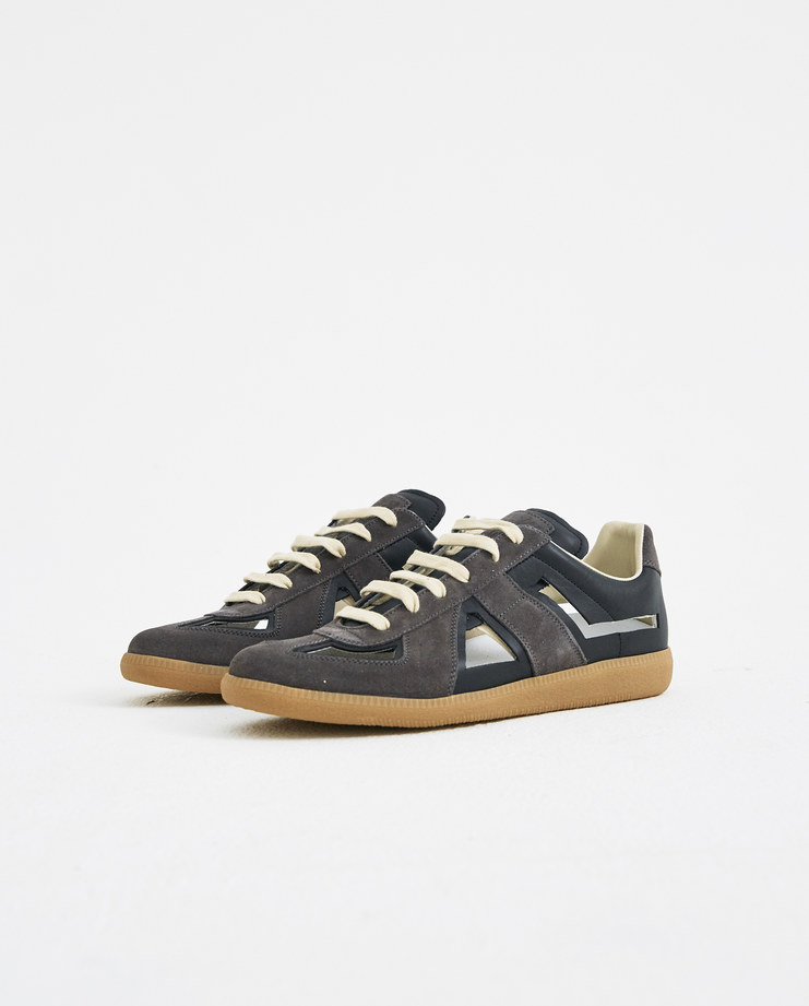 Maison Margiela Brown Sneakers cut out trainers new arrivals S/S 18 spring summer collection Machine A SHOWstudio mens shoes