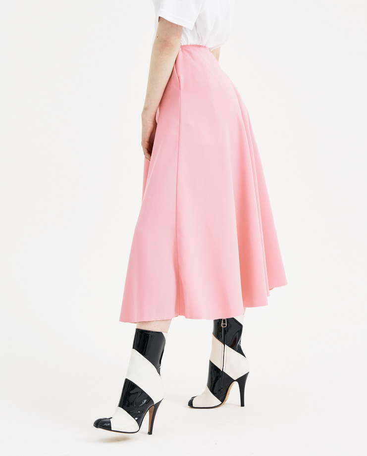 Maison Margiela Pink Wheel Skirt S51MA0314 new arrivals S/S 18 spring summer collection womens Machine A SHOWstudio