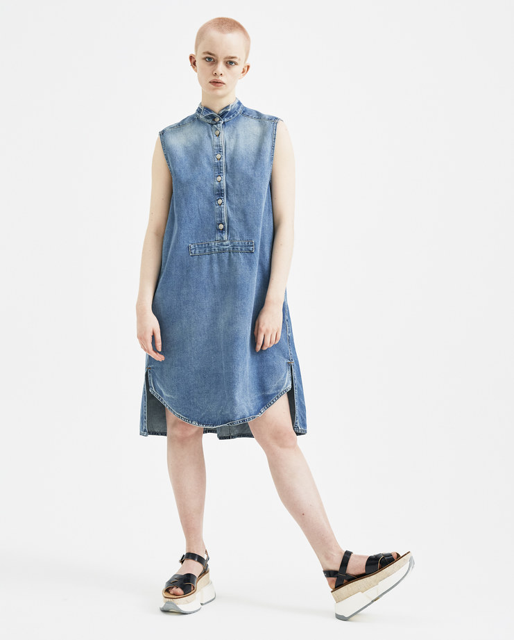 MM6 Sleeveless Denim Dress S32CT0956 new arrivals womens dresses S/S 18 spring summer collection Machine A SHOWstudio