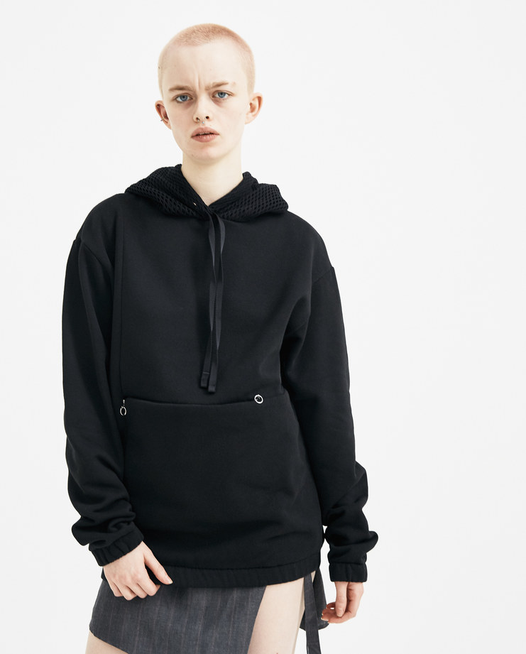 ALYX Black Harriet Hoodie AAWSW0003A01 new arrivals hoodies womens sweater hooded S/S 18 spring summer collection Machine A SHOWstudio