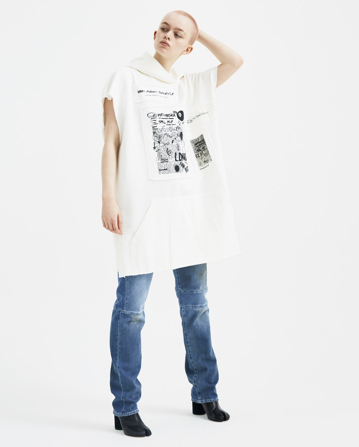 MM6 Drawings Patch Hooded Dress S32CT0985 new arrivals S/S 18 spring summer collection Machine A SHOWstudio womens