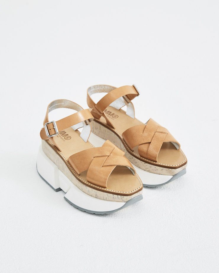 MM6 Sand Platform Trainer Sandals S40WP0115 new arrivals shoes S/S 18 spring summer collection womens Machine A SHOWstudio