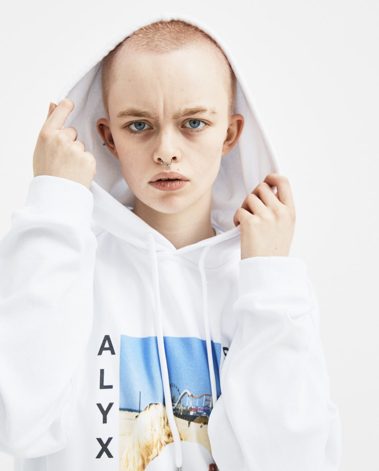 ALYX White Venice Beach Hoodie AVWTS0015A07 new arrivals womens S/S 18 spring summer collection Machine A SHOWstudio sweater hooded top tops