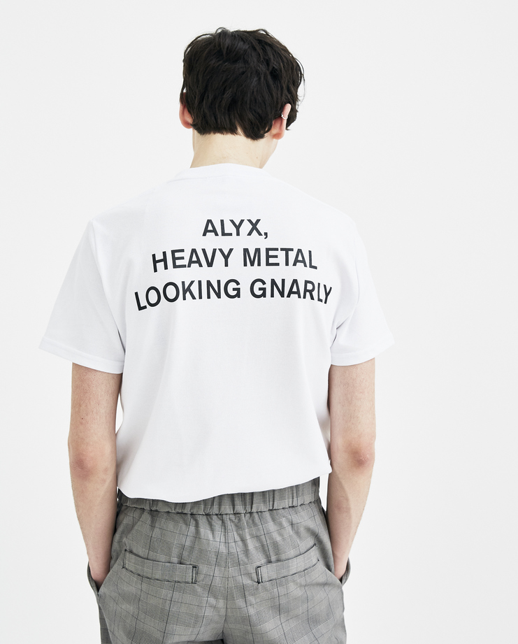 ALYX White Heavy Metal Tee New arrivals spring summer 2018 s/s 18 machine a showstudio AVWTS0012A07