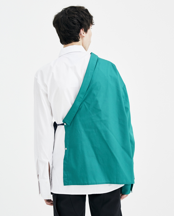Raf Simons green shirt with asymmetric collar Machine A Showstudio New arrivals S/S spring summer 18 181-226-15010-00020