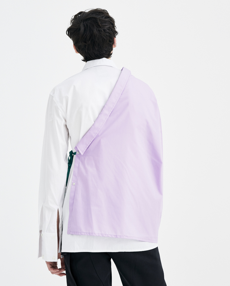 Raf Simons Lilac shirt with Asymmetric collar Machine A Showstudio New arrivals S/S spring summer 18 181-226-15010-00053