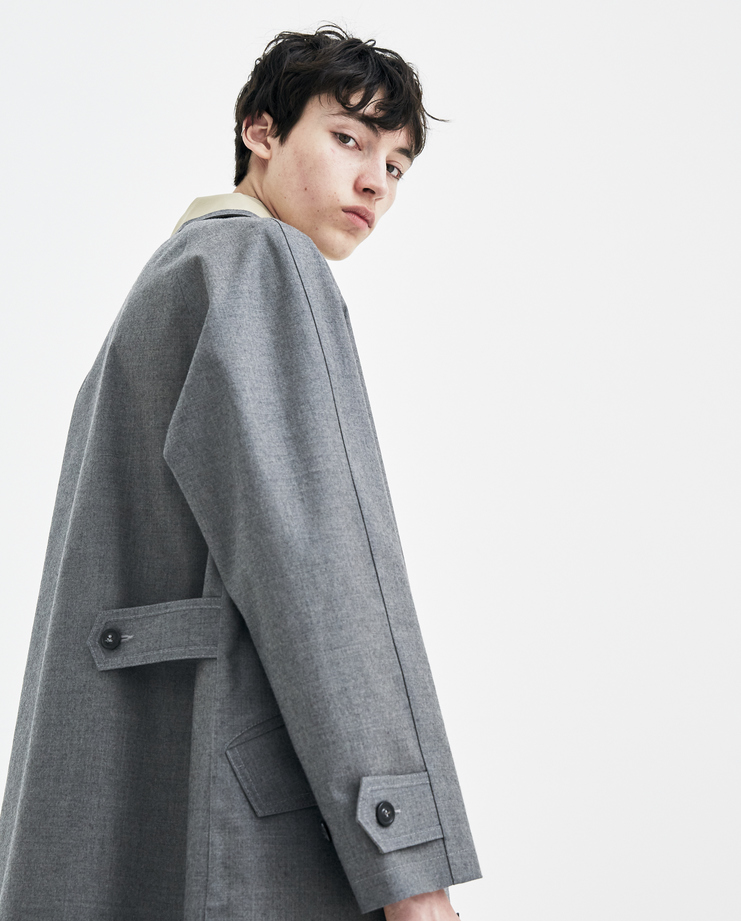 Maison Margiela Grey Trench Coat new arrivals S30AH0076 mens coats S/S 18 spring summer collection Machine A SHOWstudio
