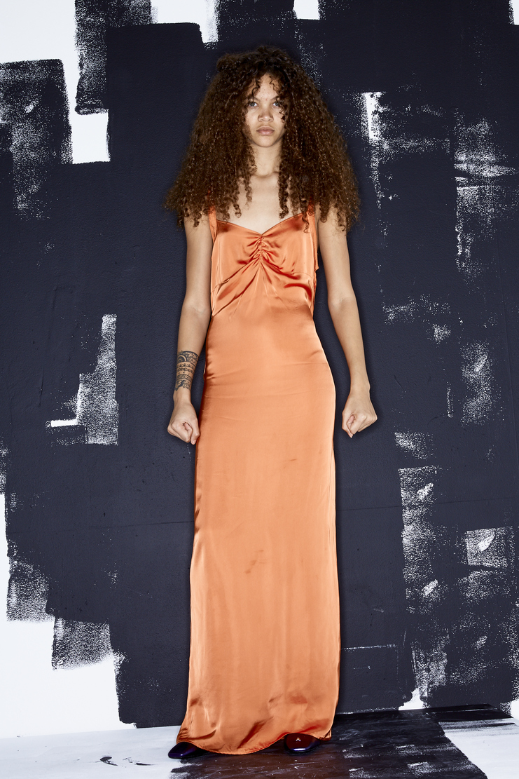 ALYX Orange Midnight Long Dress new arrivals AAWDR0021A43 S/S 18 spring summer collection Machine A SHOWstudio womens tops