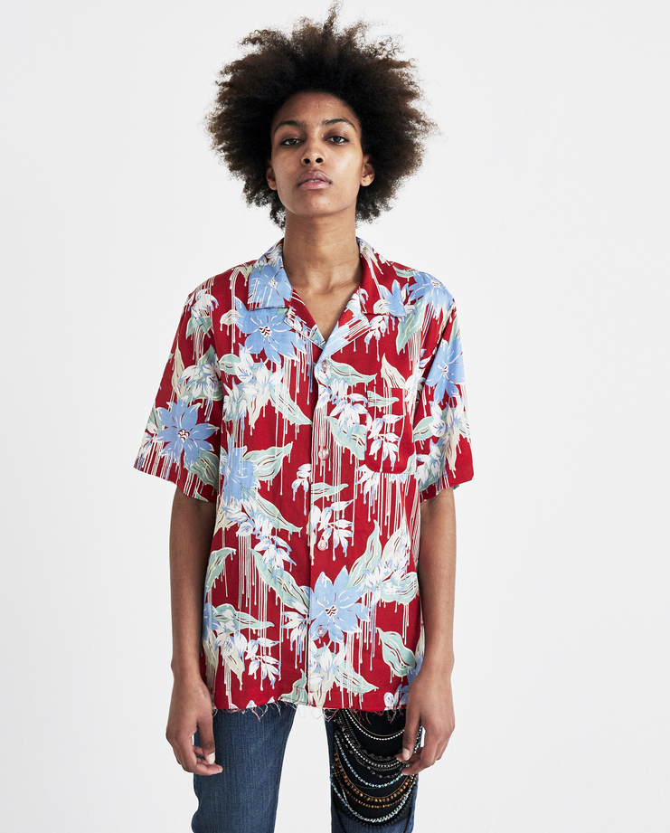 Christian Dada Red Aloha Shirt CDM-18S-0213 new arrivals womens floral shirt S/S 18 spring summer collection Machine A SHOWstudio mens shirts