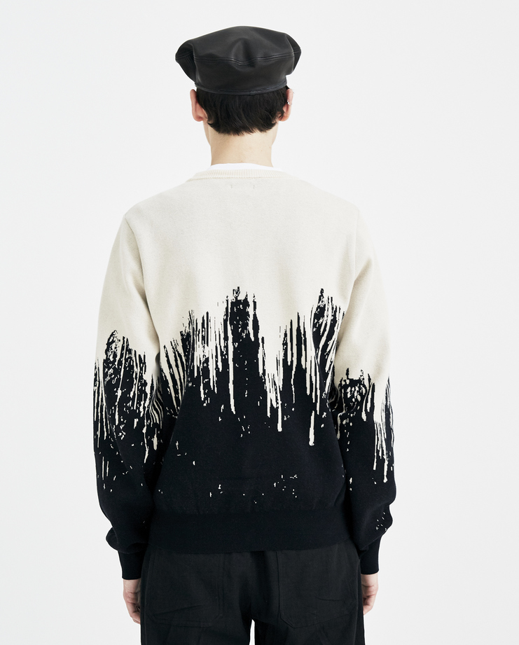 Christian Dada Bleached Jacquard Sweater CDM-18S-0802 new arrivals mens sweaters Machine A SHOWstudio S/S 18 spring summer collection black white