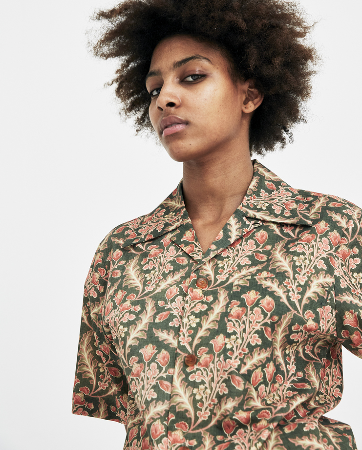 Hyein Seo Green Hawaiian Shirt SH3KH new arrivals womens Machine A SHOWstudio S/S 18 spring summer collection floral shirts