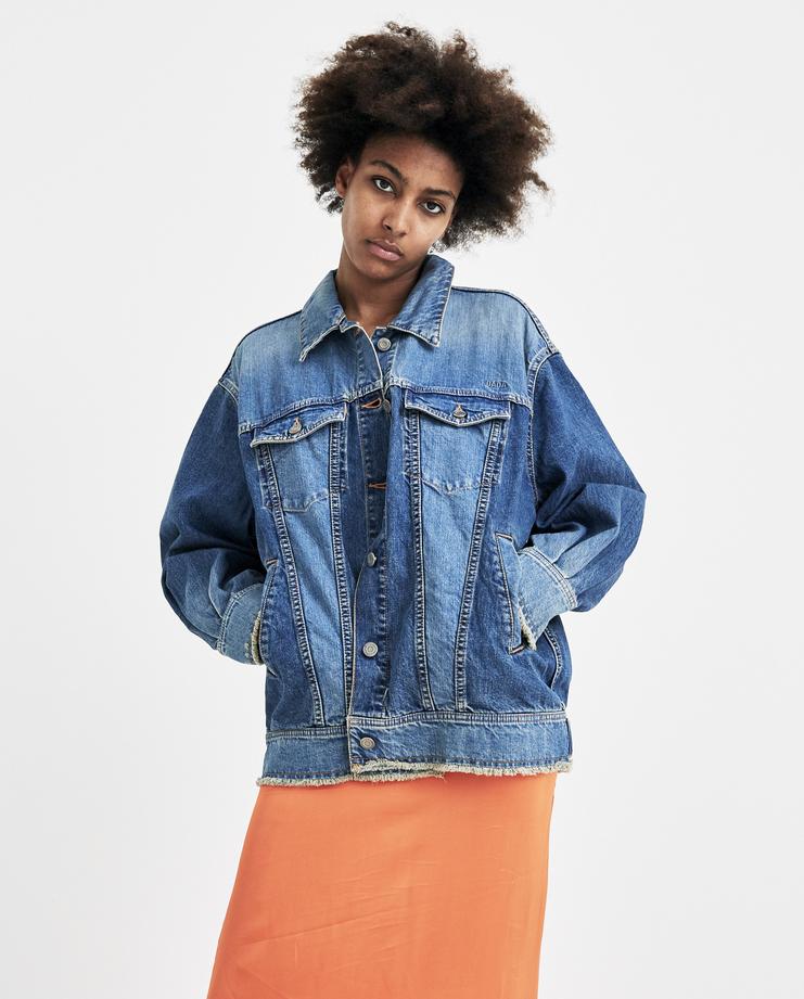 Christian Dada Back Belt Denim Jacket ss18 large oversized chrisdada spring summer 2018 blue coat